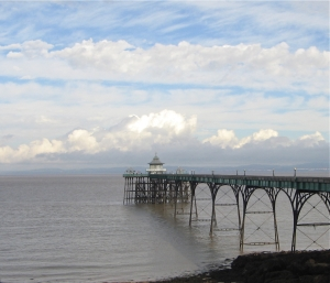 pier and clouds august 13